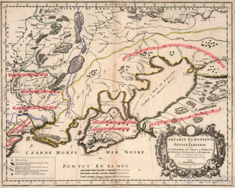 Тартария Европейская или Малая Тартария, 1704г. Источник