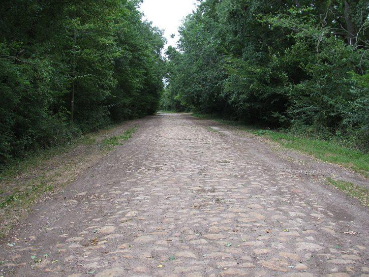Римская дорога возле La Celle-sur-Loire, Франция. Источник