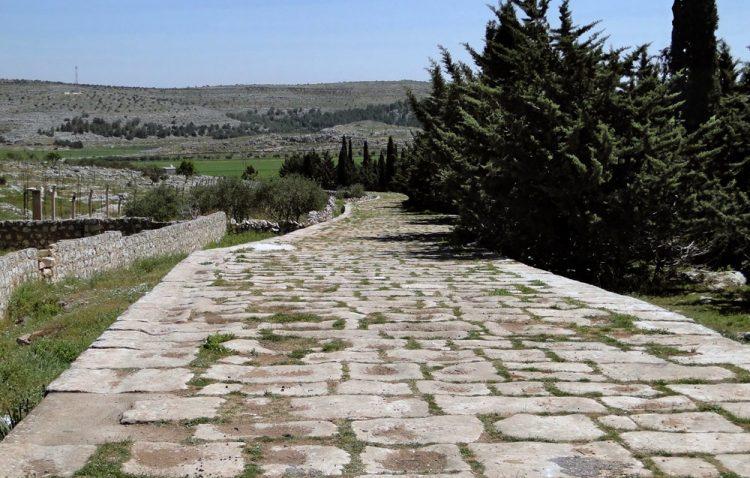 Древняя римская дорога возле Высокого Акибрина в Сирии. Источник